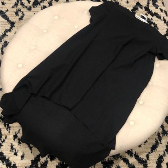 Dresses & Skirts - Black semi sheer swing dress hi-low